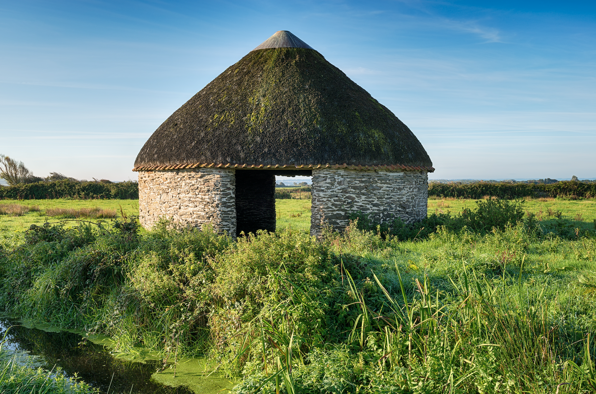 Looking for the Definition of homesteading? We will show you how to homestead practically aNd safely, and what it really takes to do so! Hut in field with straw roof