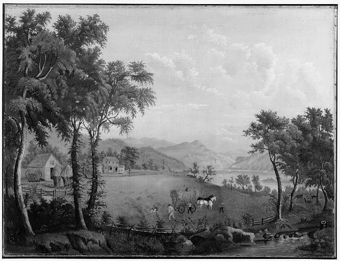 Summer Landscape: Haymaking (after American Harvesting) Jasper Francis Cropsey (American, 1823–1900)