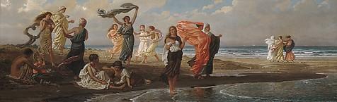 Greek Girls Bathing Image